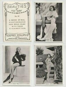 Godfrey Phillips  Cigarettes 1939 Set XL54 Beauties of Today (F82)