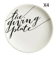 Cypress Home The Giving Plate 12-inch Ceramic Serving Platter 4 Pack