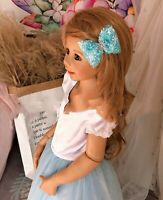 Women Girl Kids Frozen Blue Crystal Snow Flake Elsa party Hair Swirl Pin Set