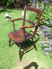 Victorian oxford bar back chair
