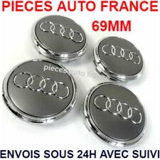 4pcs Centre de Roue Cache Moyeu 69mm Gris Audi A1 A2 A3 A4 A5 A6 A7 A8 TT