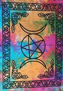Home Decor Tapestry Boho Triple Moon Wall Hanging Poster Star Printed Fabric Art