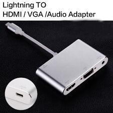 Lightning To HDMI VGA Audio Digital AV Adapter For iPhone 7 6s 6 Plus 5s New