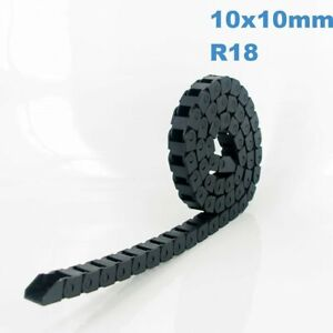 10x10mm R18 Nylon Energy Drag Chain Cable Wire Carrier CNC Router 3D Printer Mil
