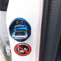 4x Edelstahl Türschloss Abdeckung Schnalle Blau für Mazda 6 CX-3 CX-5 KE KF
