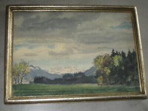 Karl Arnold 1883-1953, Aquarell, Blick ins Inntal, Kaisergebirge