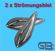 2 x Strömungsblei, Angelblei, Grundblei, 25g-40g-60g, Karpfenblei mit Öse