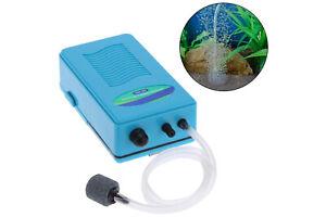 Pompa d'aria acquario batteria 2L/min portatile ossigeno aeratore bolle DN-980