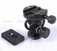 NEW 2D ±90° Tilt Tripod Monopod Ball Head + Camera Quick Release Plate
