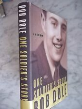 One Soldier's Story SIGNED  By Bob Dole  Hardcover 1st Edition 1st Printing VG