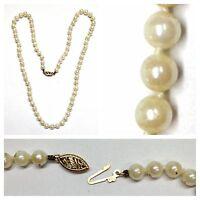 Akoya Perlen Collier/Kette Perlencollier 585er Goldverschluß Perlenkette