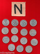10 lire 15 monete 1951 52 53 54 1955 56 2x 73 74 1975 1977 1979 1980 1981 1982