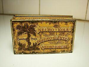 X Rare Ad Medical Matchstricker Vesta Tin 1900 KOLA Snakes Streichholz Blechdose