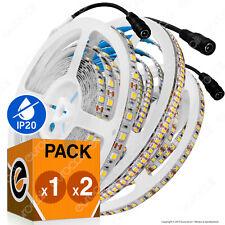 STRISCIA LED Bobina 5mt da 60 120 o 240 LED/mt IP20 interno Luce ALTA luminosità