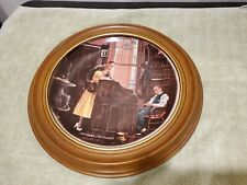 "Norman Rockwell's ""The Marriage License"" Framed Plate Gorham 10.75 inches"