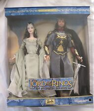 Lord of the Rings Barbie and Ken as Arwen and Aragorn..New In The Box!!!!