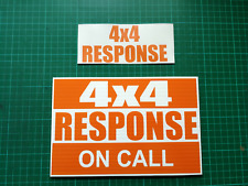 4x4 RESPONSE DASHCARD Rescue Lowland highland Cave Mountain Coastguard + sticker