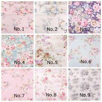ROSES Fabric- 100% COTTON vintage FLORAL MATERIAL by the metre