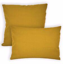Aw09a Yellow Brown High Quality 12oz Cotton Cushion Cover/Pillow Case Custom Siz