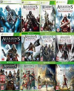 Assassins Creed Xbox One / Xbox 360 Assorted Backward Compatible MINT - FAST DEL