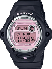Casio Women's Baby-G Digital Black Timepiece Sports  Watch BG169M-1