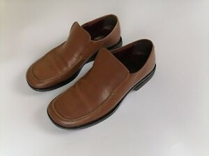 Mens Clarks Formal Leather Slip On Shoes (152557G) UK Size 9 Brown Made in Italy