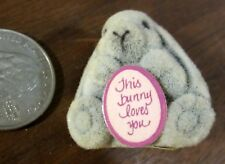 This Bunny Loves You Grey Felt Easter Cute Bunny Rabbit Heart Lapel Pin Brooch