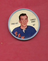 RARE 1961-62 SALADA NY RANGERS CAMILLE HENRY  COINS
