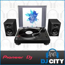 Pioneer DJ PLX-500 Vinyl Turntable and Speaker Bundle LP Record Player Pack
