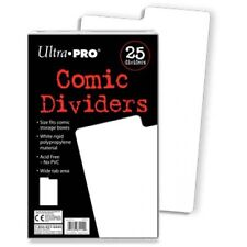 DIVIDERS ULTRA PRO COMIC BOOK  DIVIDERS PK OF 25 WHITE