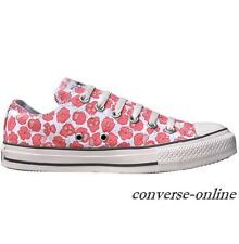 Womens Girl CONVERSE All Star ROSE PINK FLOWER PRINT OX Trainers Shoes UK SIZE 5