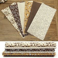 6pcs DIY Assorted PreCut 10'' Squares Thin Quilt Cotton Fabric Sewing Craft