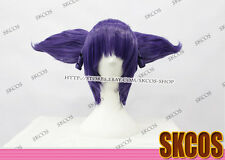 Future Diary Uryuu Minene Cosplay wig costume purple colour 2 clip