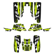 Yamaha Banshee 350 graphics full coverage sticker kit #3500 Lime Green