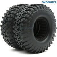 2pcs RC 1.9 Crawler Tires Mud Tyres OD 114mm For 1:10 RC 1.9 Beadlock Wheels Rim