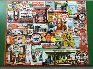 """White Mountain """"Fill Her Up"""" 1000 piece puzzle completed once from new V RARE"""