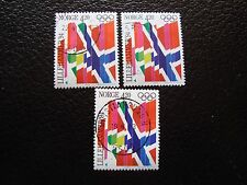NORVEGE - timbre yvert et tellier n° 1063 x3 obl (A04) stamp norway (A)