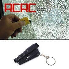 Black Keychain Car Emergency Rescue Safety Glass Breaker Hammer Escape Tool New