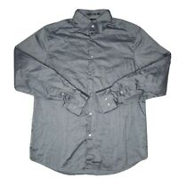Theory Mens Chance Large Long Sleeve Dress Casual Cotton Gray Button Down Shirt