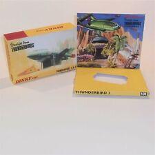 Dinky Toys 101 Thunderbird 2 Gerry Anderson Thunderbirds empty Repro box set