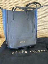RALPH LAUREN PURPLE LABEL SMALL BLUE LEATHER TOTE SHOULDER CROSSBODY BAG