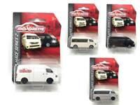 Majorette Toyota Hiace Series2 White Logo Silver Black Ivory Diecast choose item