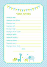 Baby Shower Game Wishes For Baby Blue Design PROFESSIONALLY PRINTED & DESIGNED