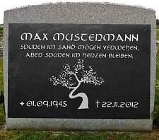 Grabschmuck Grabbeigabe Grabstein Gedenkstein Baum-001 ♥TEXT GRAVUR♥ 30 x 20 cm