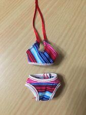 Barbie My Scene Jammin in Jamaica Nolee Doll Striped Halter Bikini Swimwear