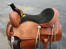 16 17 ROPING RANCH ROPER COWGIRL PLEASURE TRAIL LEATHER WESTERN HORSE SADDLE