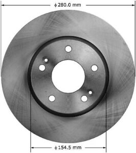 Disc Brake Rotor Front Bendix PRT5991