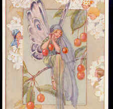 "NR MINT,""THE CHERRY FAIRIES"" ETHEREAL FAIRY SITS IN TREE,TARRANT,MEDICI,POSTCARD"