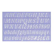 Schrift-Schablone 2 cm  ITALIC KURSIV Schreibschablone Malschablone Buchstaben
