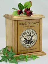 Wood Military Urns - New Army - Navy - Air Force - Marine Urns - USA Made